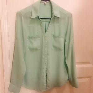 Express The Portofino Shirt in Mint